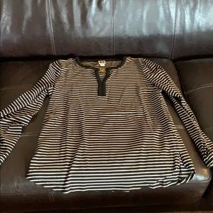 Anne Klein long sleeve striped top in sz L